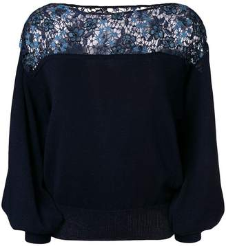 See by Chloe floral embroidered jumper