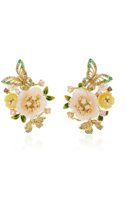 Anabela Chan M'O Exclusive: Butterfly Bloom Earrings