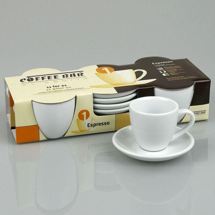 Konitz Coffee Bar By 8-pc. Espresso Cup & Saucer Set