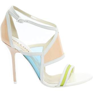 Pollini Multicolour Patent leather Sandals