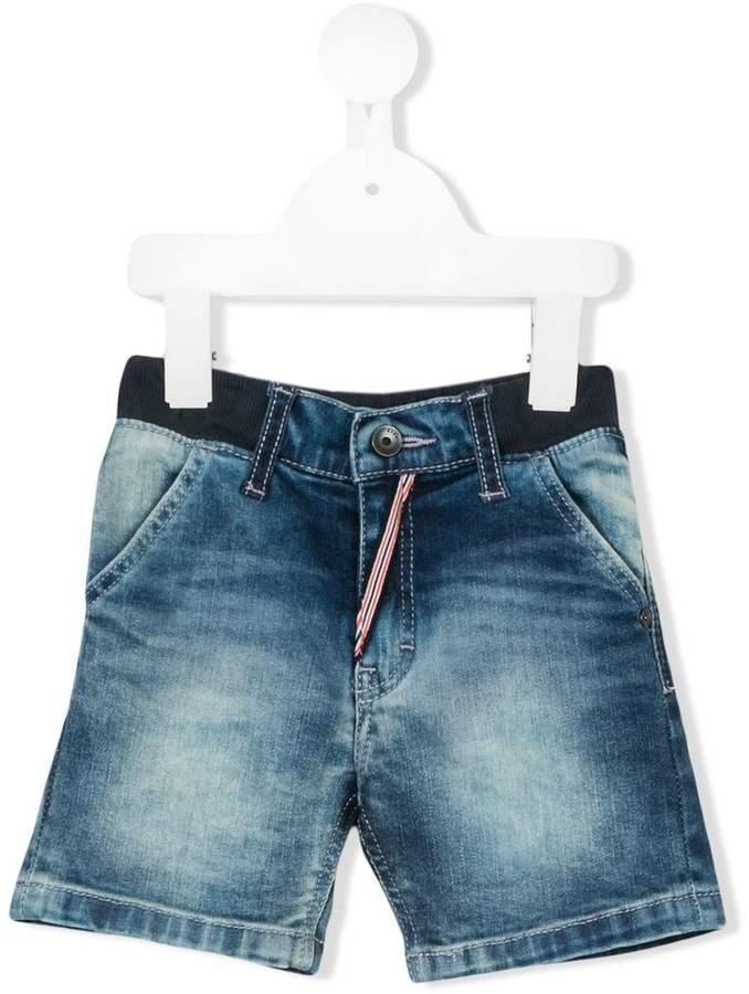 Boss Kids stonewashed denim shorts
