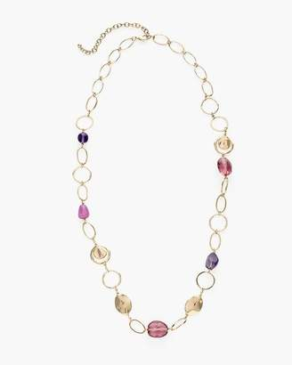 Chico's Chicos Long Purple Single-Strand Necklace