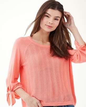 Splendid Cashblend Sleeve Tie Pullover Sweater