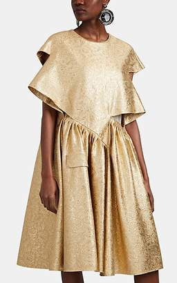 Maison Margiela Women's Cutout Cotton-Blend Brocade Dress - Gold