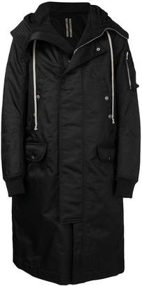 Rick Owens Sisyphus hooded long parka