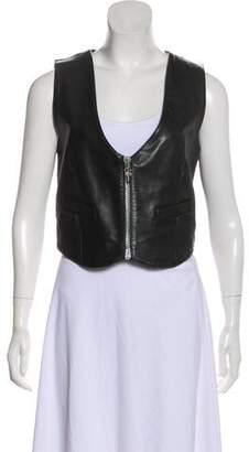 Chrome Hearts Leather Moto Vest