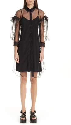 Simone Rocha Ruffled Tulle Shirtdress