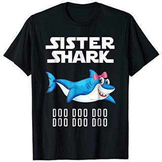 Sister Shark T-shirt Doo Doo Doo - Matching Family Outfits