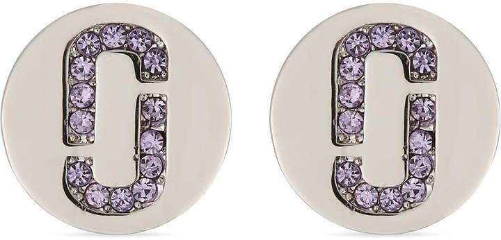 Double J Pave stud earrings