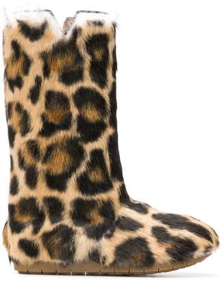 Laurence Dacade leopard print boots