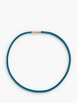 J.Crew crewcuts by Girls' Crushed Velvet Choker Necklace, Bright Teal