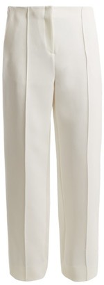 Diane Von Furstenberg - Mid Rise Wide Leg Side Striped Trousers - Womens - White