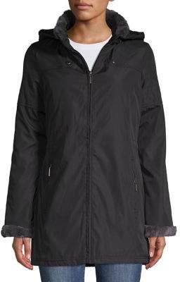 Weatherproof Faux Fur-Trimmed Jacket