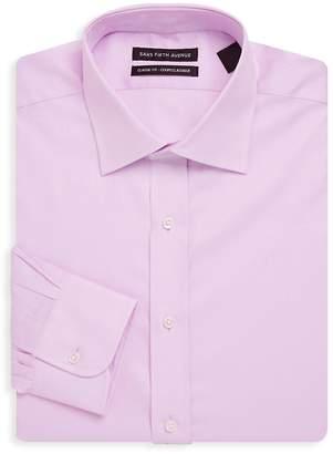 Saks Fifth Avenue Men's Diamond Textured Cotton Dress Shirt
