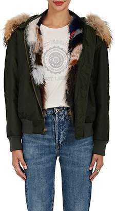 Mr & Mrs Italy Women's Fur-Lined Bomber Jacket