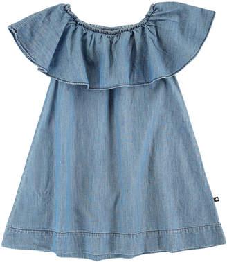Molo Cherisa Ruffle-Sleeve Dress, Size 3T-12