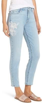 Jen7 Jen 7 Embroidered Stretch Sklnny Ankle Jeans