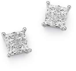 Bloomingdale's Princess-Cut Diamond Stud Earrings in 14K White Gold, 1.0 ct. t.w. - 100% Exclusive
