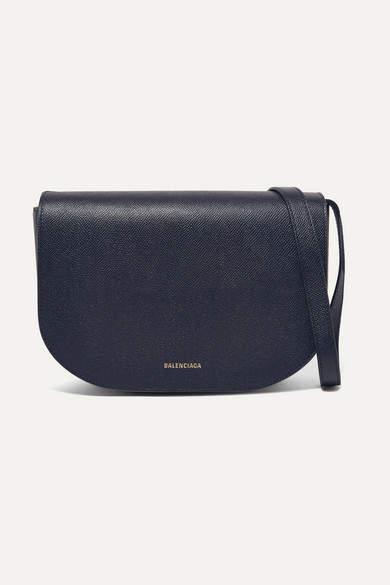 Balenciaga - Ville S Aj Textured-leather Shoulder Bag - Blue