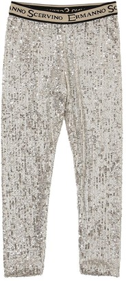 Ermanno Scervino SEQUINED TECHNO LEGGINGS