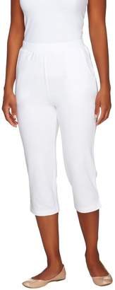 Denim & Co. Active French Terry Slim Leg Capri Pants