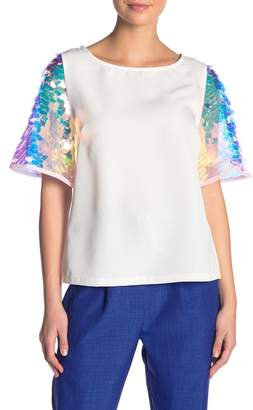 Flying Tomato Iridescent Sequin Detail Top