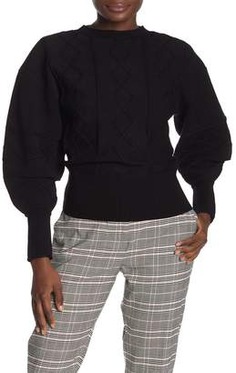 Ted Baker Long Puff Sleeve Banded Sweater
