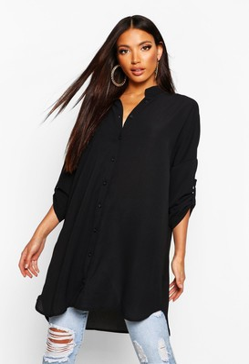 boohoo Longline Oversized Sleeve Shirt