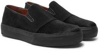 Dries Van Noten Calf Hair Slip-On Sneakers