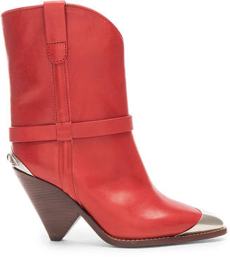 Isabel Marant Lamsy Boot in Red | FWRD