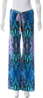 Alexis Wide- Leg Animal Print Pants