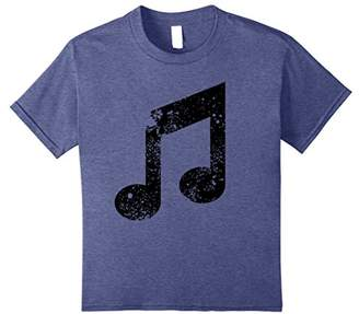 Distressed Musical Note T-Shirt for Music Lovers