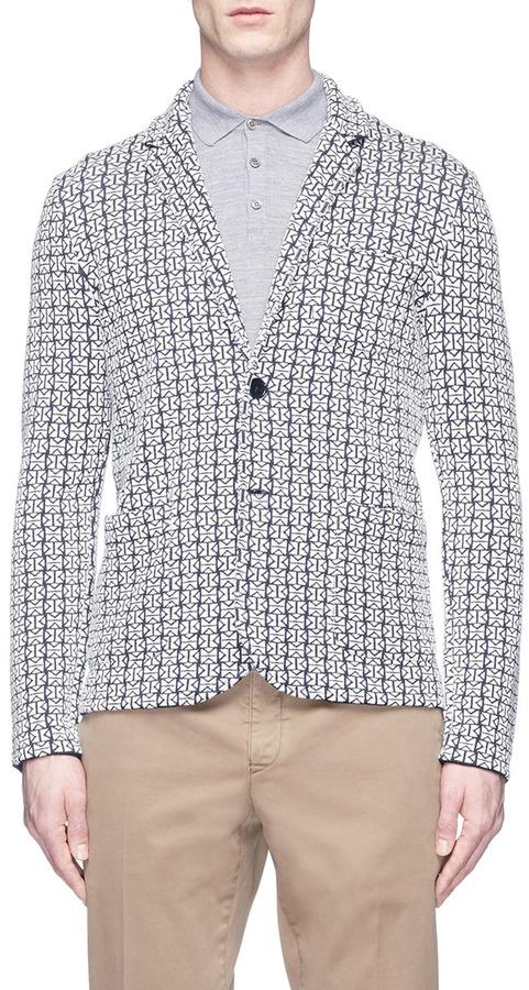 AlteaAltea Geometric knit soft blazer