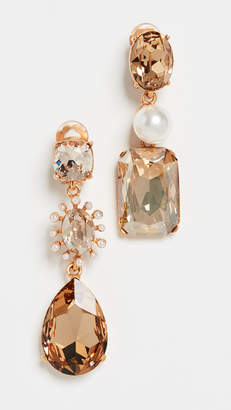 a4a168844 Oscar de la Renta Bold Mixed Jewel Earrings