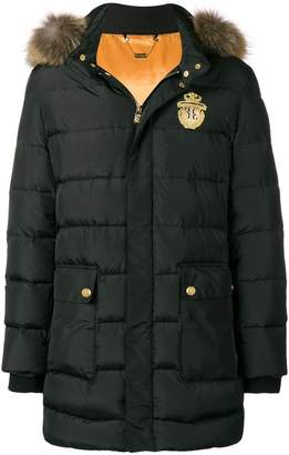Billionaire fur trim puffer coat