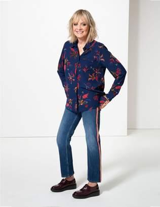 Marks and Spencer Stripe Trim Mid Rise Slim Leg Jeans