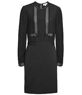 Reiss Bruna-Lace Top Detail Dress