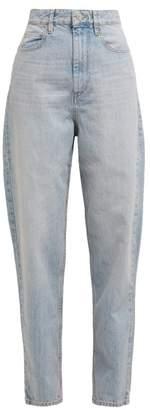 Etoile Isabel Marant Corsey High Rise Light Wash Jeans - Womens - Light Blue