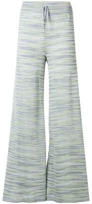 M Missoni striped wide leg knitted trousers