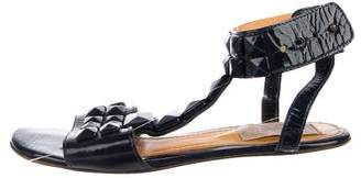 Lanvin Patent Leather Studded Sandals