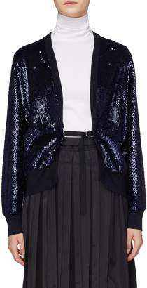 TOGA ARCHIVES Belted sequin wool cardigan