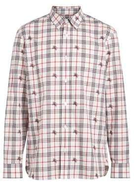 Burberry Edward Check Woven Button-Down Shirt