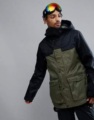 Oakley Snow Timber Bzs Ski Jacket 15k Waterproof Parka Fit In Dark Green