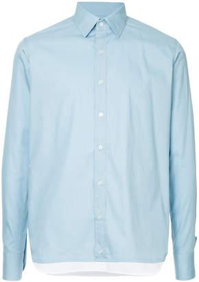 Kolor layered hem shirt