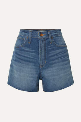 Madewell The Perfect Vintage Frayed Denim Shorts - Light denim