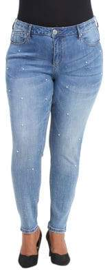 Seven7 Embellished Washed Jeans