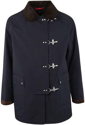 Fay Contrasting Collar Duffle Coat