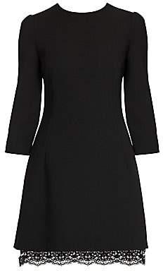 Dolce & Gabbana Women's Three-Quarter Sleeve Double Crepe Mini Dress