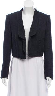 Saint Laurent Silk Cropped Blazer