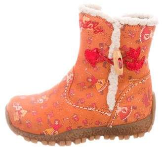 Oilily Girls' Printed Suede Boots